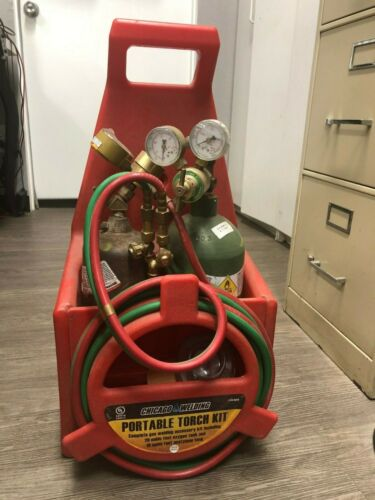 Chicago Welding Portable Torch Kit with Oxygen and Acetylene Tanks