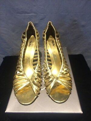Mossimo For target Gold Birdcage Heels