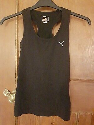 LADIES PUMA RACERBACK GYM VEST TOP - UK SIZE 10 - INTERNAL SUPPORT DRY CELL.