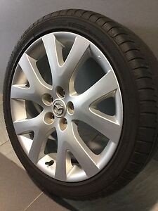 """MAZDA CX7 MAZDA 6, SP23, SP25, MPS 18"""" GENUINE ALLOY WHEELS AND TYRES Carramar Fairfield Area Preview"""