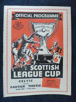 1958 Scottish League Cup SEMI FINAL- CELTIC v PARTICK THISTLE, 1st Oct at Ibrox
