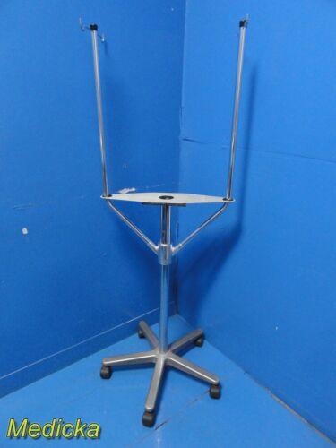 Arthrex Height Adjustable Device Stand W/  Dual IV Pole & 4-Wheel Base ~20933