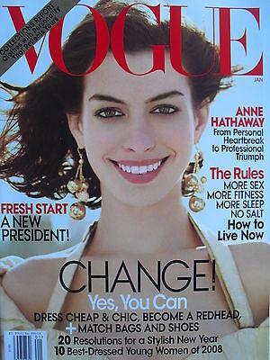 Anne Hathaway  January 2009 Vogue Magazine Rachel Maddow  Coco Rocha