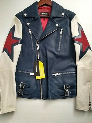 DIESEL L-JASPER  LEATHER JACKET (MEDIUM)