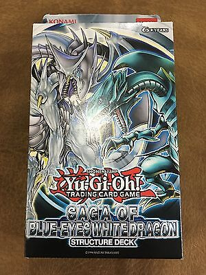 Yu-Gi-Oh! Saga of Blue Eyes White Dragon Structure Deck Sealed New FREE SHIPPING