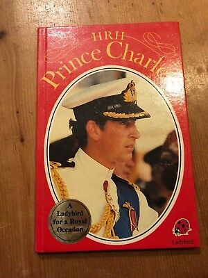 "1981 1ST EDITION ""HRH PRINCE CHARLES"" LADYBIRD BOOK (50p NET) WITH PEN WRITING!"