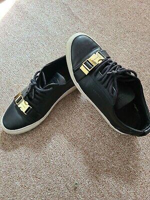 Mens buscemi sneakers size 8 US, Eu 41 black leather regular fit