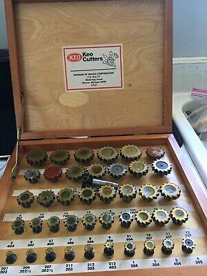 Keo All American Standard Straight Teeth Woodruff Keyseat Cutters 41 Pcs Set Box