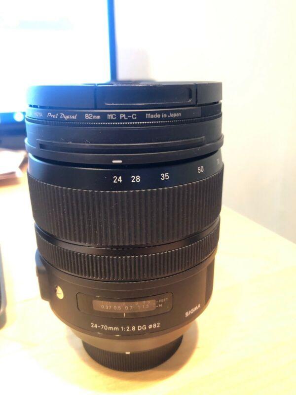 Sigma Art 24-70mm F/2.8 DG OS HSM Lens For Nikon (Black)