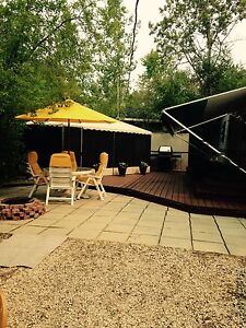 Lilac resort trailer and lot for sale