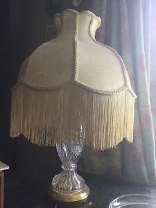 Antique etched Glass Lamp