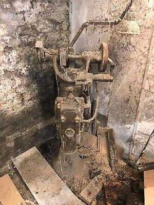 vintage grinding wheel with lamp