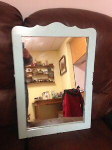 """Antique Primitive Mirror, 23.5"""" x 16.5"""""""