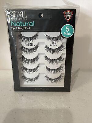 Ardell Professional Natural Eye Lifting Effect 5 Pairs Eyelashes #120 Black
