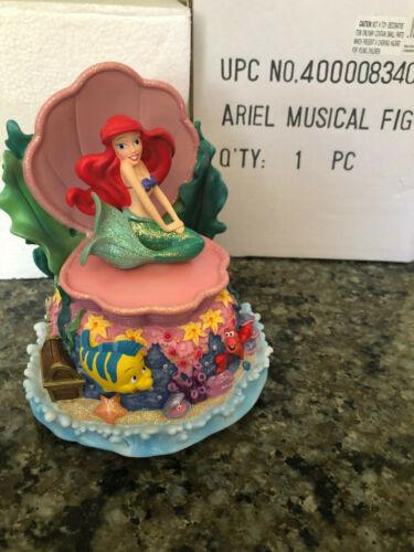 "Disney Ariel Little Mermaid ""Under The Sea"" Music Wind Up Figurine Shell"
