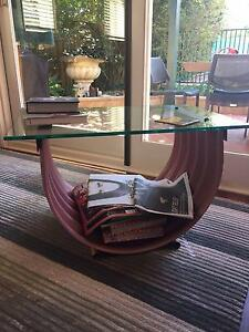 Copper and Glass Coffee Table Chatswood West Willoughby Area Preview