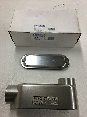 Gibson Stainless Steel 2 7200 Lb Electrical Conduit Body Elbow Fitting W Cover