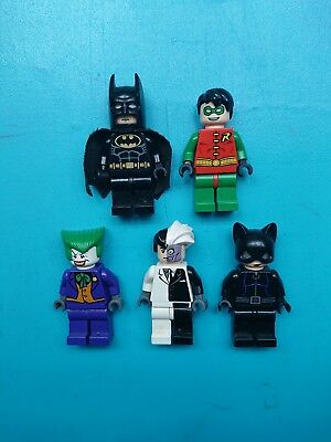 Lego DC Minifigures Vintage Magnets Batman Robin Joker Two-Face Cat Woman! Batman Mini Figure Magnet