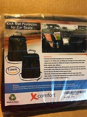 X Comfort Kick Mats - 2 Pack - Premium Quality Car Seat Protector Mat