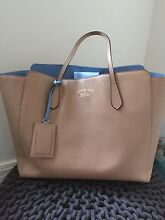 Gucci tote bag, light brown with blue lining, exc cond, receipt inc Brighton Bayside Area Preview