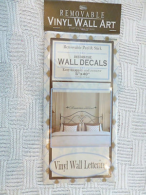 Removable Peel and Stick Decorative Vinyl Wall Lettering 5x40in NIP  (Peel And Stick Letters)