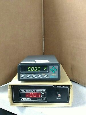 Omega Model 650 J Type Thermocouple Thermometer Certified.