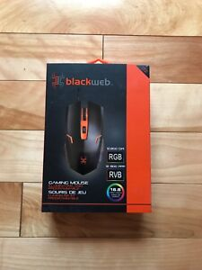 Black web gaming mouse