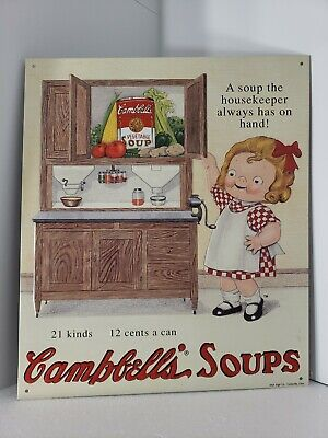 Vintage Limited Edition Kitchen Campbell Soup Metal Advertising Sign 18 of 20