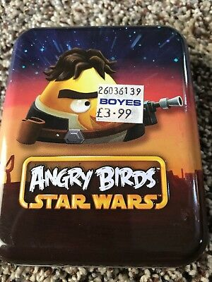 Angry Birds Star Wars Deck Of Playing Cards In Collectible Tin 3D Bonus Card EUC