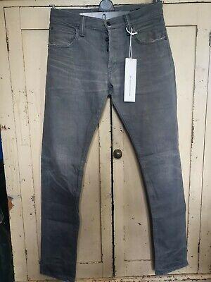 Mastercraft Union Japanese Denim Jeans 01 Slim Taper, Grey, Ltd Edition