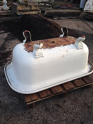 Antique 5 Foot Center Drain Bathtub Complete