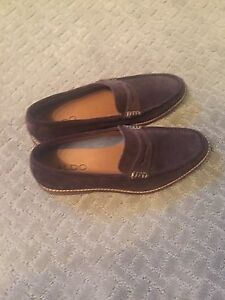 Brown suede aldo loafers size 8