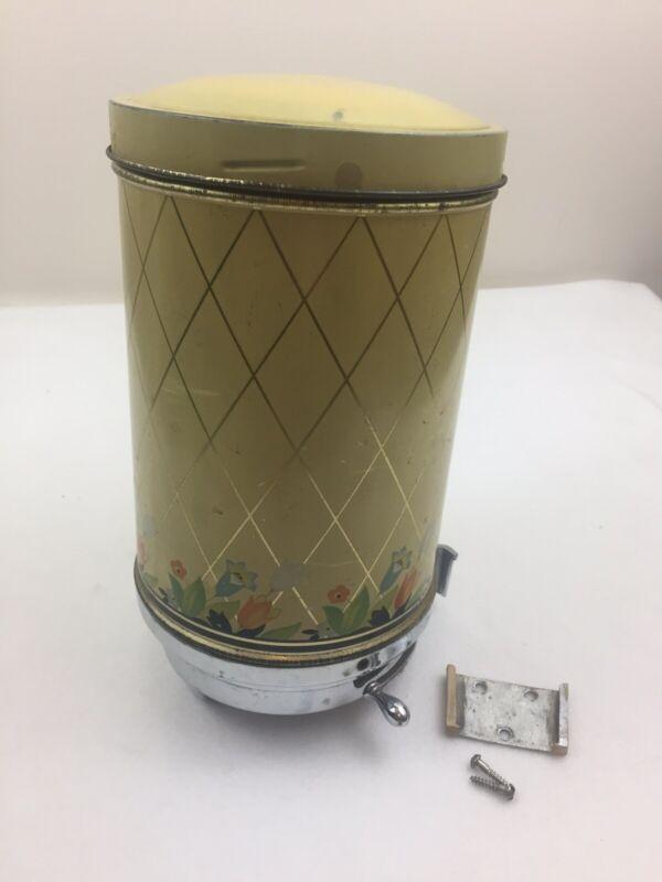 Vintage 1940 Club Aluminum Coffee Dispenser Hall Crocus Pattern With Wall Mount