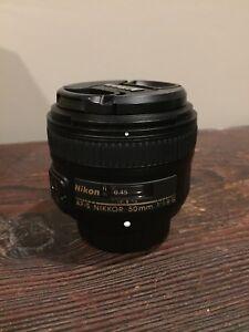 Nikon 50mm 1.8 lens - Like new