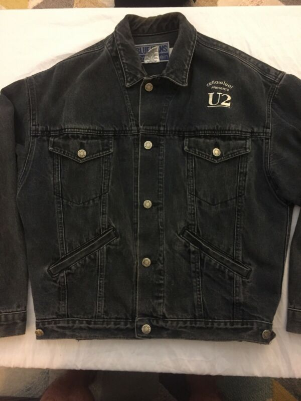 U2 Joshua Tree Calvin Klein Denim Jacket 1987 Tour Celler Door Productions Small