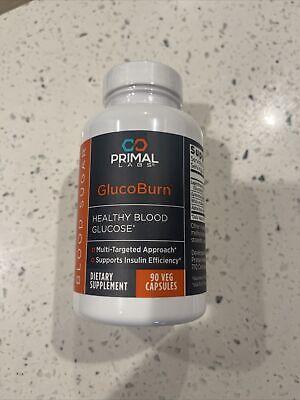 Primal Labs GlucoBurn 90 Capsules Healthy Blood Glucose Sugar - New/Sealed
