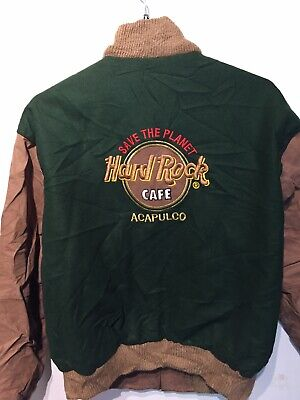 90s Vintage Hard Rock Cafe M  Varisty Bomber Jacket