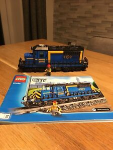 Lego Blue Cargo Train/locomotive From 60052 Complete With Instructions.