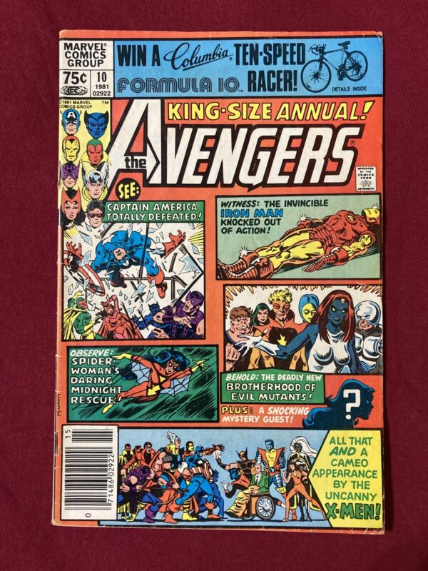 Avengers King Size Annual 10 Newsstand 1st Rogue