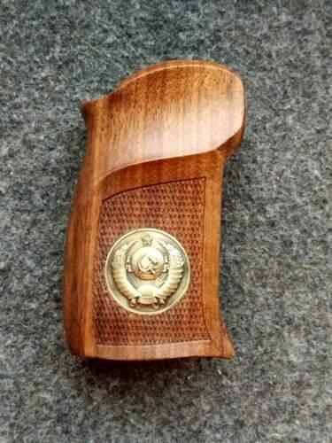Makarov pistol, eagle made of brass, wooden handles