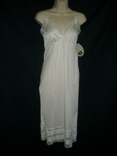 Vintage NWT Movie Star Size 20 Bust 40 White Nylon Full Slip