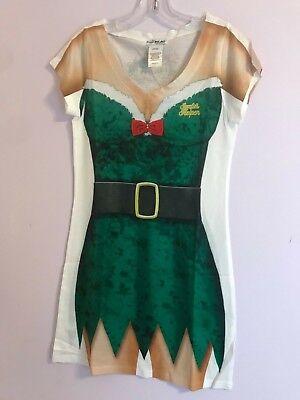 Faux Real Ladies Santa's Helper Ugly Sexy Holiday Shirt / Dress Size Small](Ladies Santa Dress)