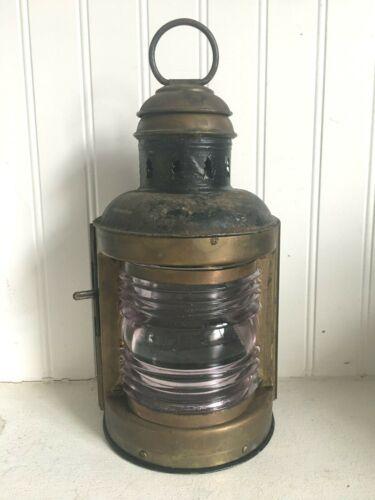 Vintage Antique Perko De Lite Ship Boat Nautical Marine Lantern Light Lamp