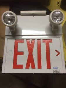 Beghelli Emergency Lighting Exit Combination Unit sign