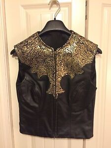 Western Real Leather Showmanship Vest