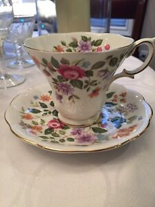 Tea Cup & Saucer by Royal Albert, Devon Pattern