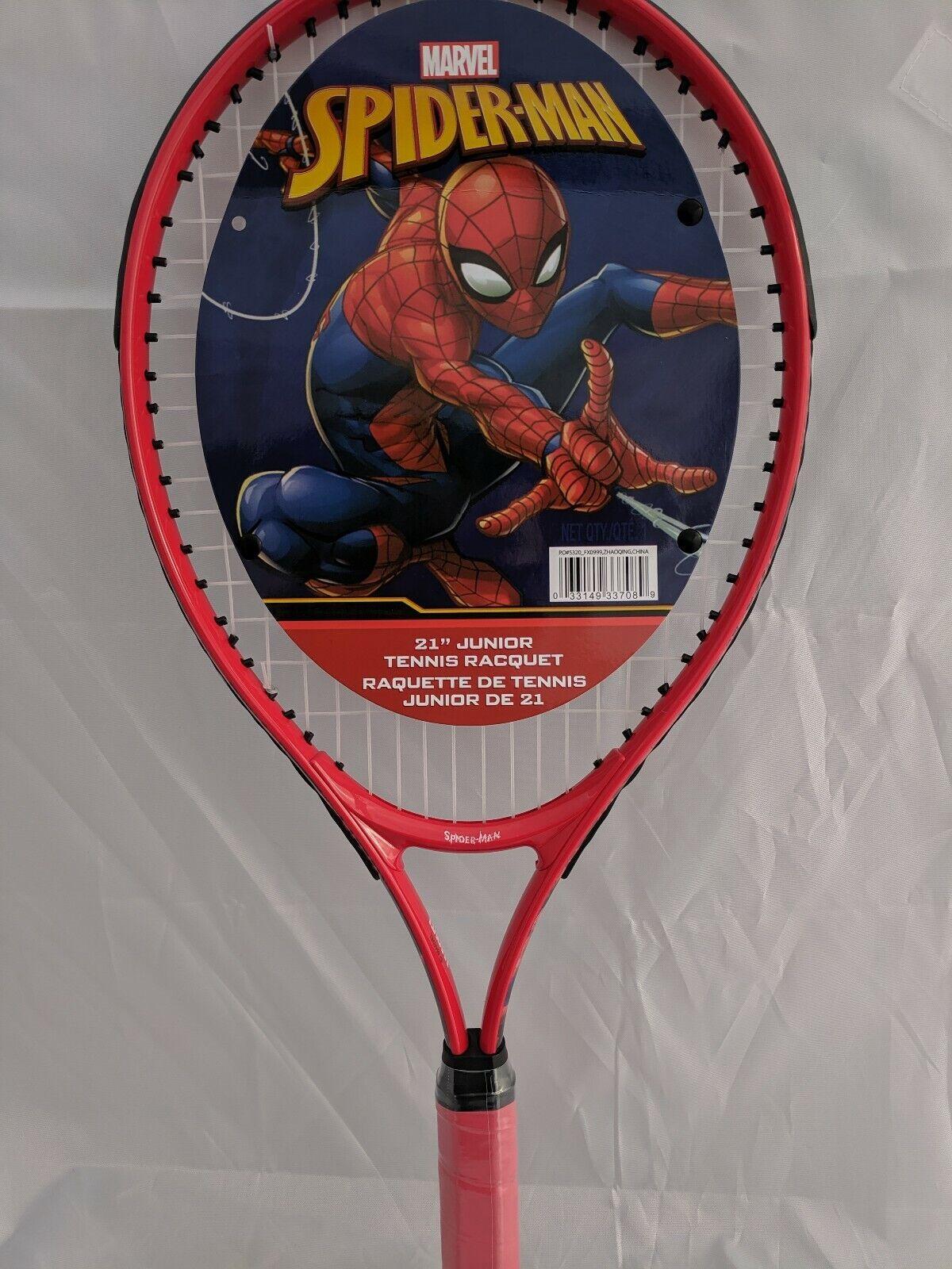 spiderman junior tennis racquet racket sports kids