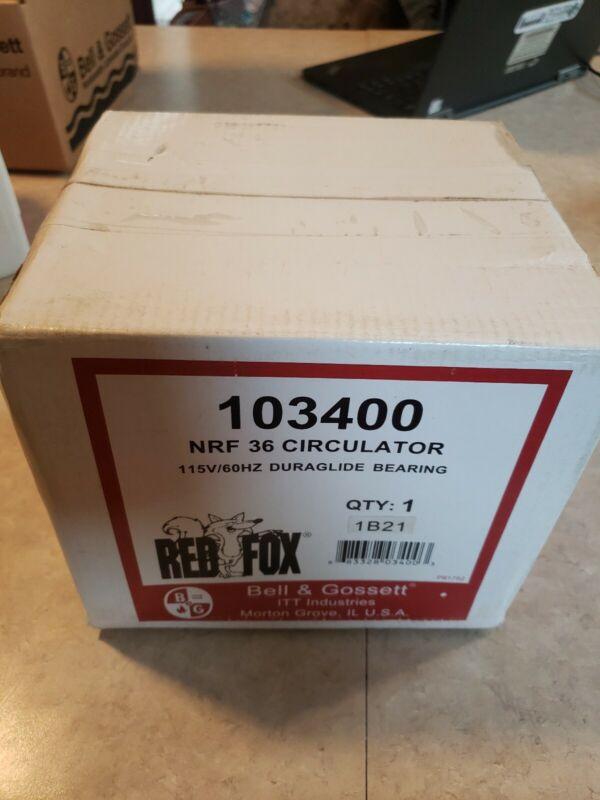Bell & Gossett NRF-36 1/6 HP 3-Speed Circulator Pump Part# 103400