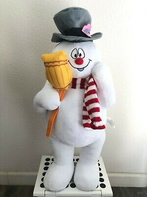 """Gemmy Frosty The Snowman Christmas Holiday Plush Door Greeter 24"""" Tall"""