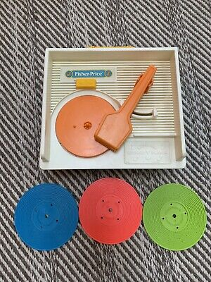 Vintage Fisher Price Record Player/Music Box with Records 1970s